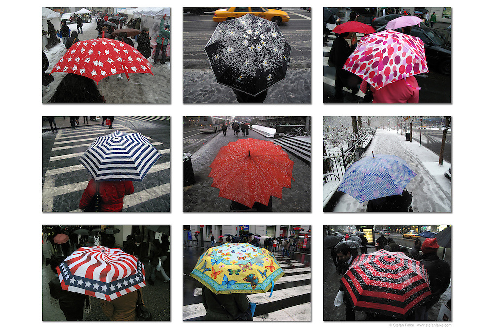 New York City Umbrellas - wide. <br />