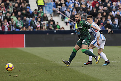 February 10, 2019 - Madrid, Madrid, Spain - CD Leganes's Unai Bustinza and Real Betis Balompie's Jese Rodriguez during La Liga match between CD Leganes and Real Betis Balompie at Butarque Stadium in Madrid, Spain. February 10, 2019. (Credit Image: © A. Ware/NurPhoto via ZUMA Press)