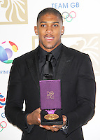 LONDON - NOVEMBER 30: Anthony Joshua attended the British Olympic Ball at the Grosvenor House Hotel, London, UK. November 30, 2012. (Photo by Richard Goldschmidt)