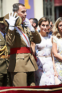 071416 Spanish Royals Attend a Military Event in Zaragoza