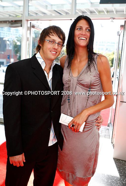 Craig Harrison and Anna Scarlett. Westpac Halberg Awards, Vector Arena, Auckland, New Zealand. Tuesday 3rd February 2009. Photo: Simon Watts/PHOTOSPORT