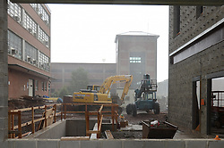 Thunderstorm Downpour at the Construction Site of Central Connecticut State University, New Academic Building. 18 July 2012