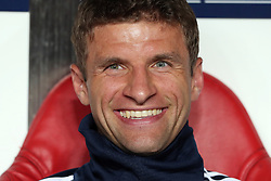 September 19, 2018 - Lisbon, Portugal - Bayern Munich's forward Thomas Muller from Germany during the UEFA Champions League Group E football match SL Benfica vs Bayern Munich at the Luz stadium in Lisbon, Portugal on September 19, 2018. (Credit Image: © Pedro Fiuza/NurPhoto/ZUMA Press)