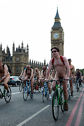 © under license to London News Pictures. 11/06/11. Nude protesters cycled through the streets of London this weekend as part of the World Naked Bike Ride. Photo credit should read Anton Phatianov/LNP