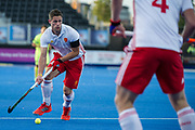 England's Mark Gleghorne. England v China - Hockey World League Semi Final, Lee Valley Hockey and Tennis Centre, London, United Kingdom on 15 June 2017. Photo: Simon Parker