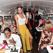 Su-Elise attends Brigits Bakery host their Pink Ribbon Afternoon Tea in aid of the Pink Ribbon Foundation, London, UK. 16 October 2018.