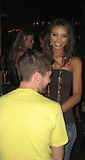 **EXCLUSIVE**.2007 Miss USA Rachel Smith hanging out all night with Topher Grace.Boom Restaurant 15th Anniversary.New York, NY, USA .Wednesday, June 06, 2007.Photo By Celebrityvibe.To license this image call (212) 410 5354 or;.Email: celebrityvibe@gmail.com; .