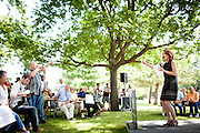 Republican presidential candidate Rep. Michele Bachmann speaks at a campaign stop in Spencer, Iowa, July 31, 2011.