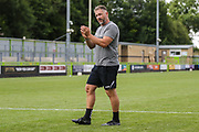 Forest Green Rovers assistant manager, Scott Lindsey applauds the fans at the end of the match during the Pre-Season Friendly match between Forest Green Rovers and Bristol Rovers at the New Lawn, Forest Green, United Kingdom on 21 July 2018. Picture by Shane Healey.