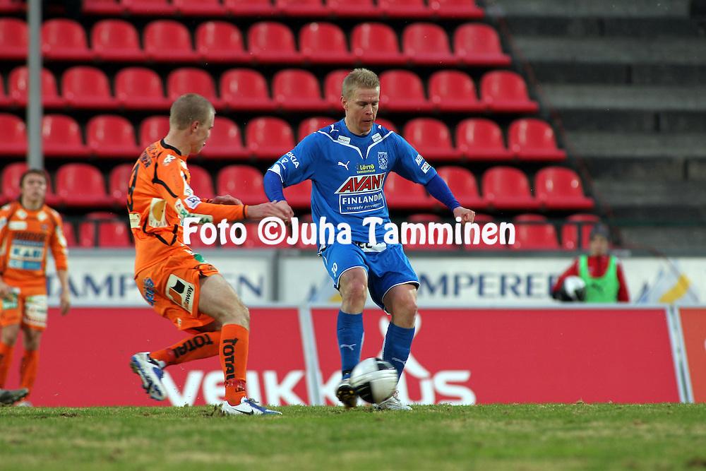 23.04.2010, Ratina, Tampere..Veikkausliiga 2010, Tampere United - JJK Jyv?skyl?..Jari Niemi - TamU.©Juha Tamminen.