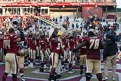 November 20, 2010; Chestnut Hill, MA, USA;  The Boston College Eagles celebrate after the game against the Virginia Cavaliers at Alumni Stadium.  Boston College defeated Virginia 17-13.