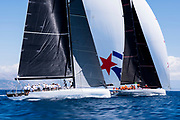 Cannonball and Momo sailing in a practice race at the Corfu Challenge.