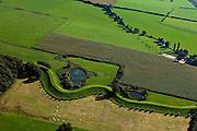 Nederland, Gelderland, Gemeente Voorst, 03-10-2010;  IJsselvallei,  De Wilpse Klei met Veluwsche Bandijk, winterdijk voor de IJssel. De wielen zijn overblijfselen van eerdere dijkdoorbraken..IJsselvallei, with Veluwsche Bandijk, winter dike for the IJssel. The breaches (or score holes) are remnants of previous dike breaches..luchtfoto (toeslag), aerial photo (additional fee required).foto/photo Siebe Swart