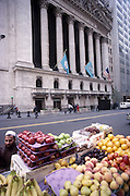 I was shooting the NYSE building.I was surprised to hear someone talking to me in Hindi, asking me if I was from India. I saw the fruit seller. He said he was from Pakistan. We had a good conversation, but I have forgotten the exact nature of it.