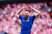 Chelsea (18) Olivier Giroud during the The FA Cup match between Chelsea and Southampton at Wembley Stadium, London, England on 22 April 2018. Picture by Sebastian Frej.