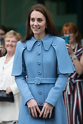 February 28, 2019 - Ballymena, United Kingdom - Image licensed to i-Images Picture Agency. 28/02/2019.  Ballymena, Northern Ireland, United Kingdom. The  Duchess of Cambridge leaving a visit to the Braid Centre in Ballymena on the second day of her trip to Northern Ireland. (Credit Image: © Stephen Lock/i-Images via ZUMA Press)