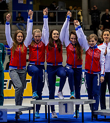 14-01-2018 DUI: ISU European Short Track Championships 2018 day 3, Dresden<br /> Rusland wint de 3000 meter relay