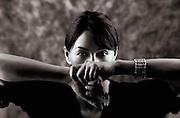 Woman Artistic B&W portrait photography. Beautiful women.