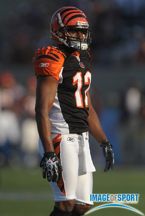 Aug 8, 2010; Canton, OH, USA; Cincinnati Bengals receiver Quan Cosby (12) during the preseason game against the Dallas Cowboys at Fawcett Stadium. Photo by Image of Sport