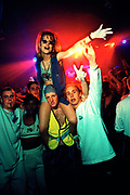 Group of people with a girl sitting on a man's shoulders, 18/4/1997, V.Dance, Stevenage