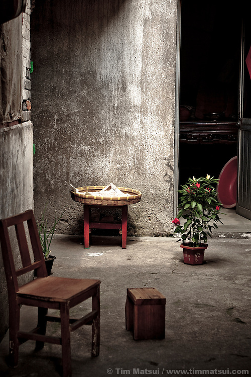 A residence in the Shuangdong Block, a replica of the old town of Yangzhou, China. Once a major trading hub due to a 2500 year-old hand-dug canal, Yangzhou is now a suburb city of Shanghai and major producer of photovoltaic cells for solar power.