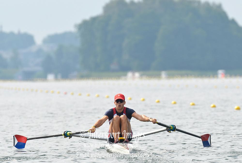 Trackai. LITHUANIA. 2012 FISA U23 Rowing Championships, Lake Galve.   10:06:32 Thursday 12/07/2012 [Mandatory credit: Peter Spurrier/Intersport Images]..Rowing, U23, 2012.