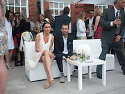 Sasha Volkova and Dan Macmillan, Alexandra Shulman, Editor of Vogue & Phil Popham, Managing Director of Land Rover<br /> host the 40th Anniversary of Range Rover. The Orangery at Kensington Palace. London. 1 July 2010. -DO NOT ARCHIVE-© Copyright Photograph by Dafydd Jones. 248 Clapham Rd. London SW9 0PZ. Tel 0207 820 0771. www.dafjones.com.