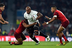 Nemani Nadolo of Fiji is tackled by Jonathan Joseph of England - Mandatory byline: Patrick Khachfe/JMP - 07966 386802 - 18/09/2015 - RUGBY UNION - Twickenham Stadium - London, England - England v Fiji - Rugby World Cup 2015 Pool A.