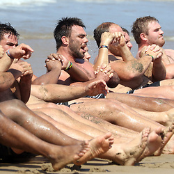 DURBAN, SOUTH AFRICA, December 11. 2015 - General views during The Cell C Sharks Pre Season Beach South Beach training for the 2016 Super Rugby Season . (Photo by Steve Haag)<br /> images for social media must have consent from Steve Haag