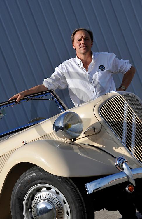 18/10/08 - VEAUCHE - LOIRE - FRANCE - Essais CITROEN Traction cabriolet 15-6 de 1939 - Photo Jerome CHABANNE