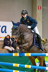 Meersman Anke, BEL, L'Eros van het Eikerhof<br /> Nationaal Indoor Kampioenschap Pony's LRV <br /> Oud Heverlee 2019<br /> © Hippo Foto - Dirk Caremans<br /> 09/03/2019