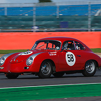 #58 Porsche 356 A Super, driver: Steve Wright, Royal Automobile Club Tourist Trophy for Historic Cars (pre '63 GT) at the Silverstone Classic 2017