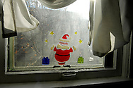 Santa decal on window
