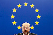 Strasbourg 02 July 2014 <br /> <br /> First session of the European Parliament in Strasbourg - Outcome of the European Council<br />  <br /> Pix : Martin Schulz<br /> <br /> Crédit Sébastien Pirlet / Isopix
