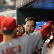 Pitcher Michael Wacha, St. Louis Cardinals, after hitting an RBI  during the New York Mets Vs St. Louis Cardinals MLB regular season baseball game at Citi Field, Queens, New York. USA. 19th May 2015. Photo Tim Clayton