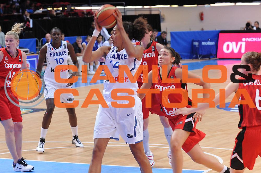 DESCRIZIONE : Ostrava Repubblica Ceca Czech Republic Women World Championship 2010 Campionato Mondiale Eight-Final Round France Canada<br /> GIOCATORE : Emmeline Ndongue<br /> SQUADRA : France Francia<br /> EVENTO : Ostrava Repubblica Ceca Czech Republic Women World Championship 2010 Campionato Mondiale 2010<br /> GARA : France Canada Francia Canada<br /> DATA : 29/09/2010<br /> CATEGORIA : rimbalzo<br /> SPORT : Pallacanestro <br /> AUTORE : Agenzia Ciamillo-Castoria/ElioCastoria<br /> Galleria : Czech Republic Women World Championship 2010<br /> Fotonotizia : Ostrava Repubblica Ceca Czech Republic Women World Championship 2010 Campionato Mondiale Eight-Final Round France Canada<br /> Predefinita :