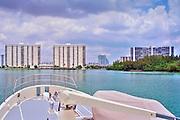Intracoastal Waterway, Miami,  Florida, USA, is a 3,000-mile (4,800-km) waterway along the Atlantic Coast