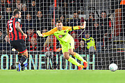 Artur Boruc (1) of AFC Bournemouth during the EFL Cup 4th round match between Bournemouth and Norwich City at the Vitality Stadium, Bournemouth, England on 30 October 2018.