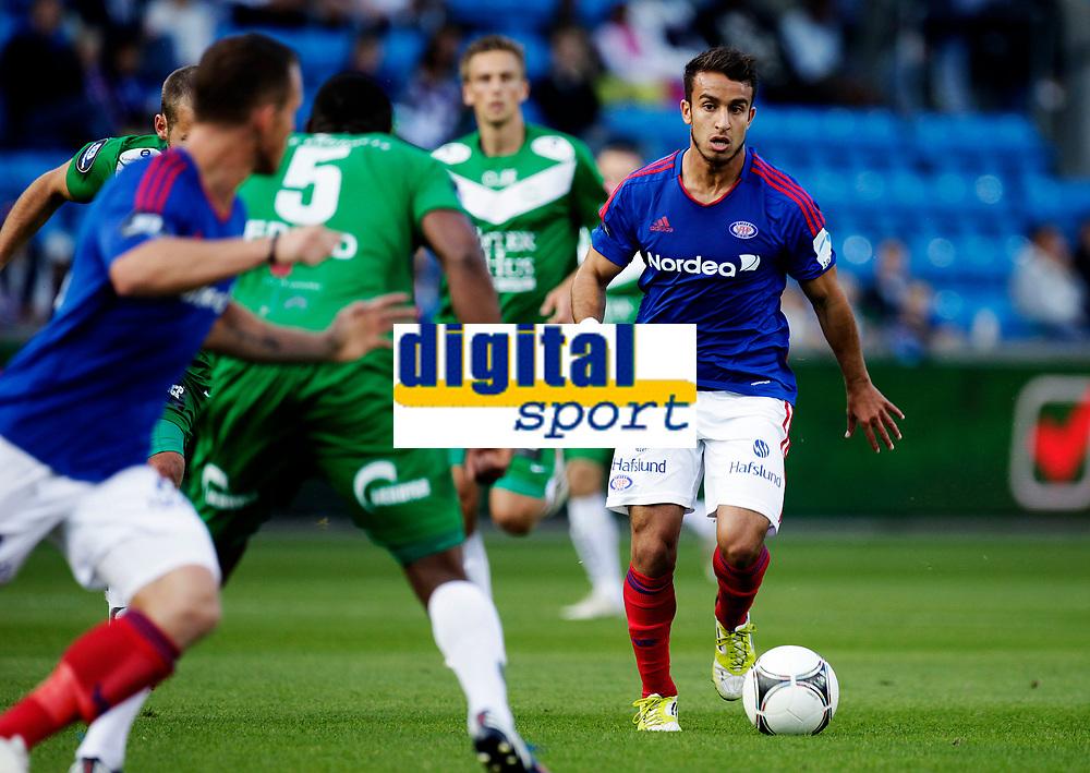 Fotball<br /> Tippeligaen<br /> Ullev&aring;l Stadion 31.08.12<br /> V&aring;lerenga VIF - Sandnes Ulf<br /> Mohammed Fellah<br /> Foto: Eirik F&oslash;rde