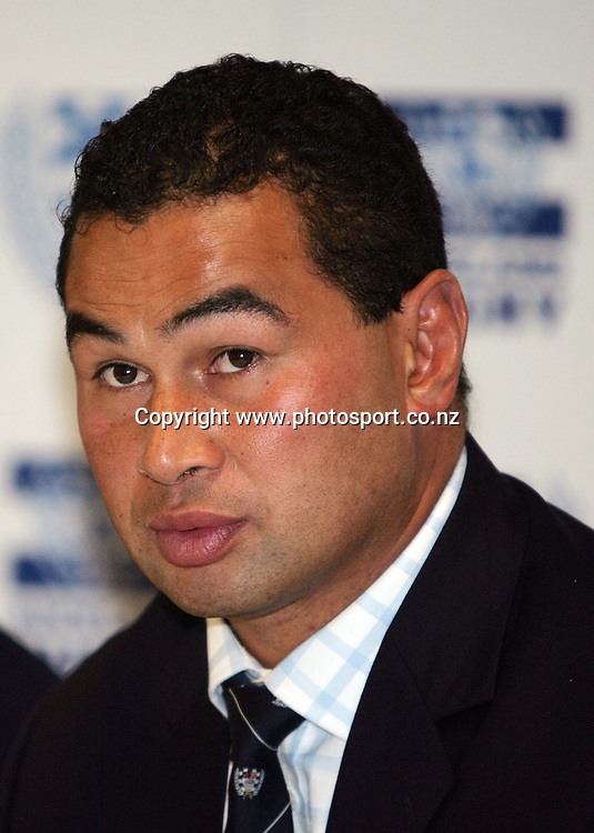 Auckland coach Pat Lam at the press conference after the Air New Zealand Cup rugby union match between Auckland and Tasman at Eden Park, Auckland, New Zealand on Sunday 6 August, 2006. Auckland won the match 46 - 6. Photo: Hannah Johnston/PHOTOSPORT<br />