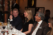 PRINCE ANDREW;  MRS. HOWARD BARCLAY; SIR DAVID TANG, Chinese New Year dinner given by Sir David Tang. China Tang. Park Lane. London. 4 February 2013.