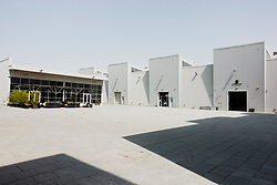 View of art gallery buildings at new Alserkal Avenue in Al Quoz cultural district of Dubai, United Arab Emirates.
