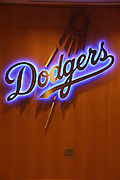 LOS ANGELES, CA - JUNE 15:  The team logo appears in blue on a wood wall before the Los Angeles Dodgers game against the Arizona Diamondbacks at Dodger Stadium on Sunday, June 15, 2014 in Los Angeles, California. The Diamondbacks won the game 6-3. (Photo by Paul Spinelli/MLB Photos via Getty Images)