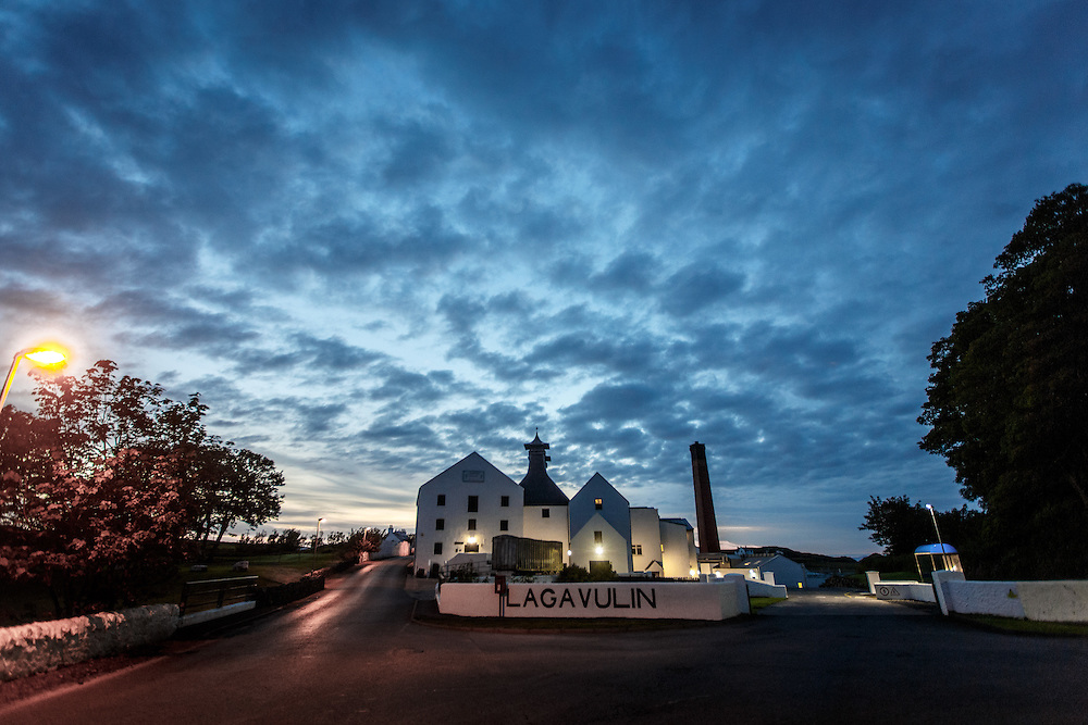 Lagavulin Distillery at dawn at Port Ellen, Isle of Islay, Scotland, July 14, 2015. Gary He/DRAMBOX MEDIA LIBRARY