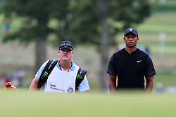 September 8, 2018 - Newtown Square, Pennsylvania, United States - Tiger Woods (R) and his caddie Joe LaCava approach the 16th green during the third round of the 2018 BMW Championship. (Credit Image: © Debby Wong/ZUMA Wire)
