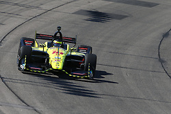 July 7, 2018 - Newton, Iowa, United States of America - SEBASTIEN BOURDAIS (18) of France takes to the track to practice for the Iowa Corn 300 at Iowa Speedway in Newton, Iowa. (Credit Image: © Justin R. Noe Asp Inc/ASP via ZUMA Wire)