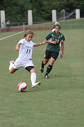 Virginia Cavaliers M/F Kara Frederick (17)..The Virginia Cavaliers Women's Soccer Team defeated the University of Vermont 6-0 on September 15, 2006 at Klöckner Stadium in Charlottesville, VA...