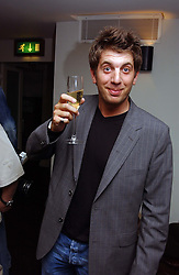 """TV presenter ANDY GOLDSTEIN at a party to celebrate the publication of a """"Diary of A C List Celebrity"""" by Paul Hendy held at Bar 19/21 Soho House, 21 Old Compton Street, London W1 on 13th July 2004."""