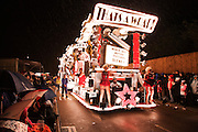 That's a Wrap, by Mendip Vale CC, in the Bridgwater Guy Fawkes Carnival in the heavy rain of the 2010 event.