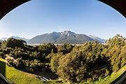View from our balcony at Arthur's Pass Wilderness Lodge.